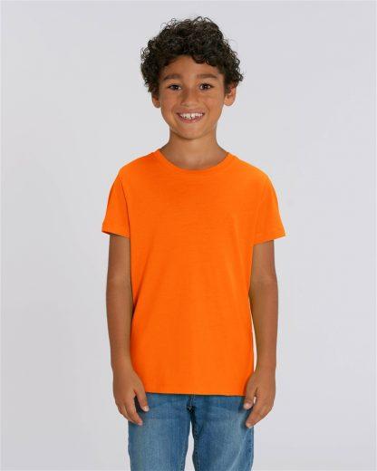 Bright Orange 100% Organic Kids T-Shirt