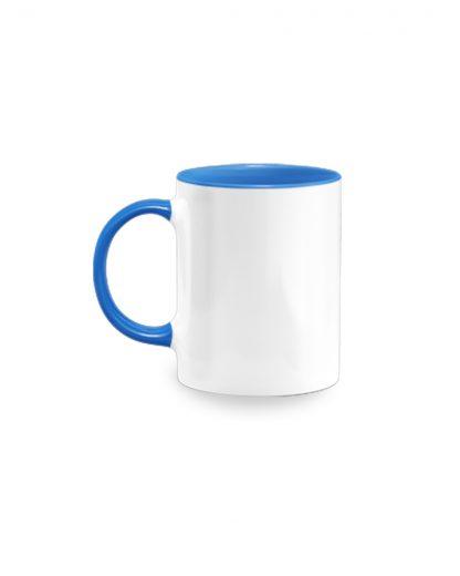 Coloured Insert Mug Blue