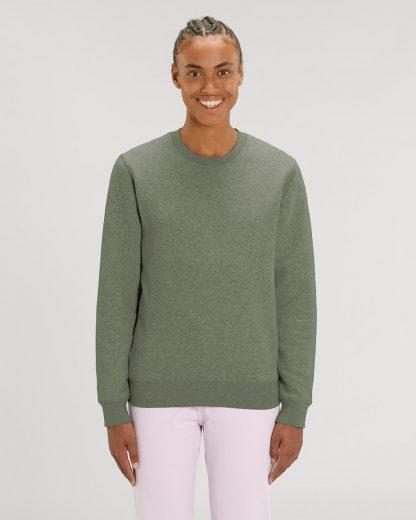 Changer Sweatshirt Mid Heather Khaki - Star Earth