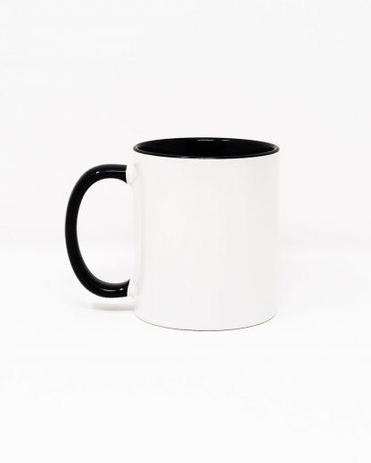 Coloured Insert Mug Black