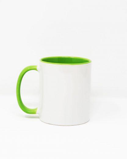 Coloured Insert Mug Green