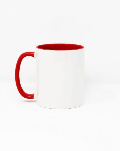 Coloured Insert Mug Red