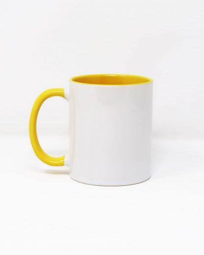 Coloured Insert Mug Yellow