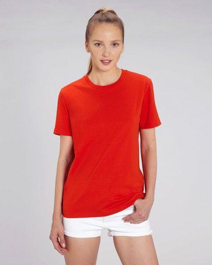 Organic T-Shirt Bright Red - Star Earth