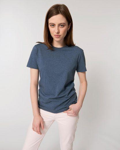 Organic T-Shirt Dark Heather Blue - Star Earth