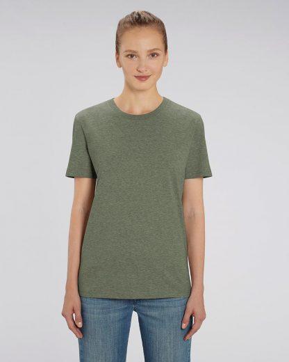 Organic T-Shirt Mid Heather Khaki - Star Earth