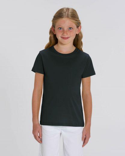 Black 100% Organic Kids T-Shirt