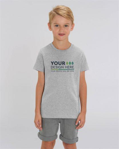 Heather Grey 100% Organic Kids T-Shirt